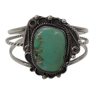 Navajo Sterling Turquoise Bracelet