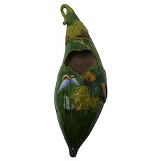 Japanese Wall Pocket Squash with Butterfly and Leaves