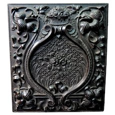 Gutta Percha Union Case with Roses Irises Ambrotype of Gentleman
