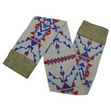Authentic Vintage Lakota Sioux Beadwork Strip