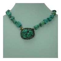 Turquoise and Silver Filigree Choker Necklace China
