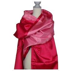 Glamorous Evening Wear Heavy Pink Satin Stole Wrap Shawl Scarf