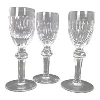 Waterford Curraghmore Crystal Cordial Glasses, set of 3