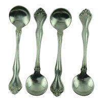 Sterling Salt Spoons Westmorland George and Martha set of 4