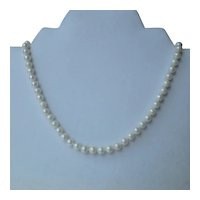 6mm 14k Cultured Pearl Necklace 18 inches