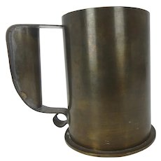 Trench Art Large Brass Artillery Shell Mug Stein