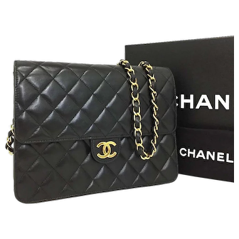 Authentic Chanel Classic Flap Chanel-Quilted-Matelasse-22-cc Near New 5695