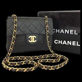 Chanel Classic Mini Single Flap 20 Black Lambskin 5789
