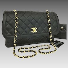 Chanel Classic Flap Quilted Turn Lock Cc with Matching Wallet 6277
