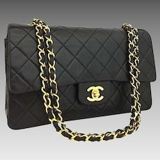 Chanel Classic Double Flap 25 Lambskin Leather Shoulder Bag 5583