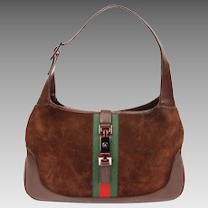 Gucci Stripe Suede Leather Hobo Bag 6179
