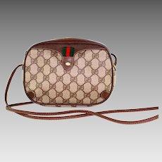 Gucci Vintage Web Gg Logo Shoulder Bag 6280