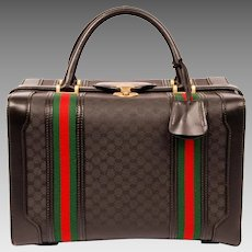 Gucci Coated Gg Web Dr. Weekend/Travel Bag 6210