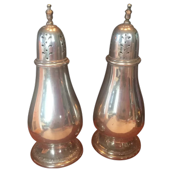 International Sterling Silver Prelude Pattern Salt and Pepper Shakers