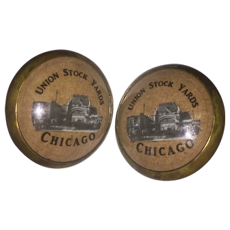 Brass and Glass Bridle Rosettes from the Chicago Stock Yards