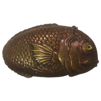 Victorian Era Figural Fish Match Safe Vedta