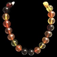 Vintage Amber Colorful Bakelite Beads Necklace