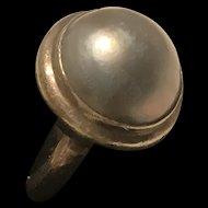 Art Deco Black Tahitian Pearl Ring