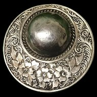 Victorian Vintage Sterling Silver Mourning Brooch
