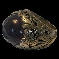 Stunning Art Deco large Amethyst Ring