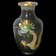 Vintage Chinese Cloissone' Dragon Vase