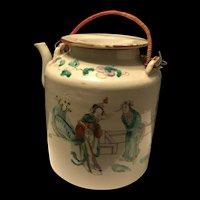 Fine Large Antique Chinese Famille Rose Tea Pot