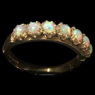 Impressive Ladies 9K Hallmarked Gold Australian Fine Opal Ring