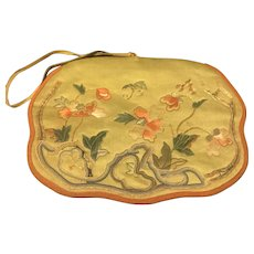 Antique Chinese Embroidered Forbidden Stitch Scent Purse Pouch Bag