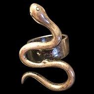 Vintage Chinese Tibet Silver Snake Ring