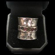 Unique Sterling Silver Multi-Colored Tourmaline Ring