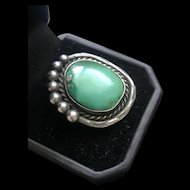 Vintage Native America Sterling Silver Turquoise Ring