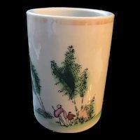 Antique Chinese Porcelain Brush Pot Holder