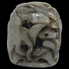 19th Century Chinese Carving Jade Finial