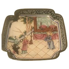 Chinese 18th QianLong Export Enamel On Copper Dish