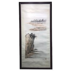 Chinese Watercolor Painting Signed By Artist HuangJuBi 黄居壁