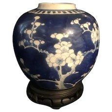Antique 19th Century Chinese Prunus Hawthorn  KangXi Porcelain Jar