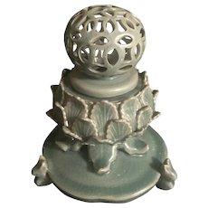Early 20th Century Korean Celadon Glazed Incense Burner