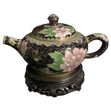 Vintage Chinese Enamel Cloisonné Teapot