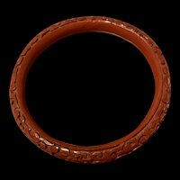 Antique Chinese Export Cinnabar Bangle