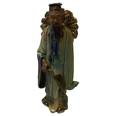 Antique Chinese Mudman Standing Shekwan 1890's- 1919's  Figurian