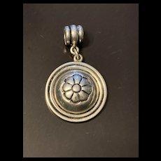 Vintage Sterling Silver Floral Charm