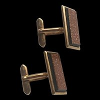 Fabulous Vintage A Pair Of Goldstones Cufflinks