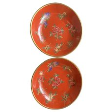 Vintage Asian Floral Porcelain Dishes