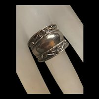 Awesome Sterling Silver Cigar Band Style Ring