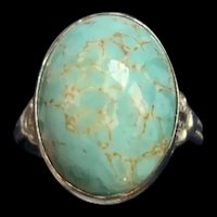 Stunning Vintage Sterling Silver Turquoise Ring