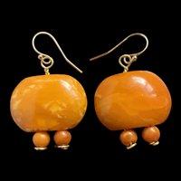 Antique Art Deco Amber Butterscotch Earring