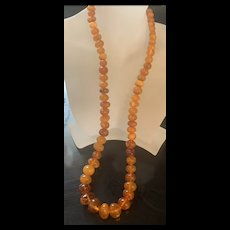 Vintage Genuine  Baltic Honey & Butterscotch Amber Necklace