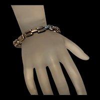 Vintage Solid Sterling Silver Link Bracelet
