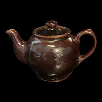 Vintage Dark Chocolate Sadler Teapot Brown Betty England