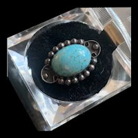 Vintage Native America Navajo Sterling Silver Turquoise Ring